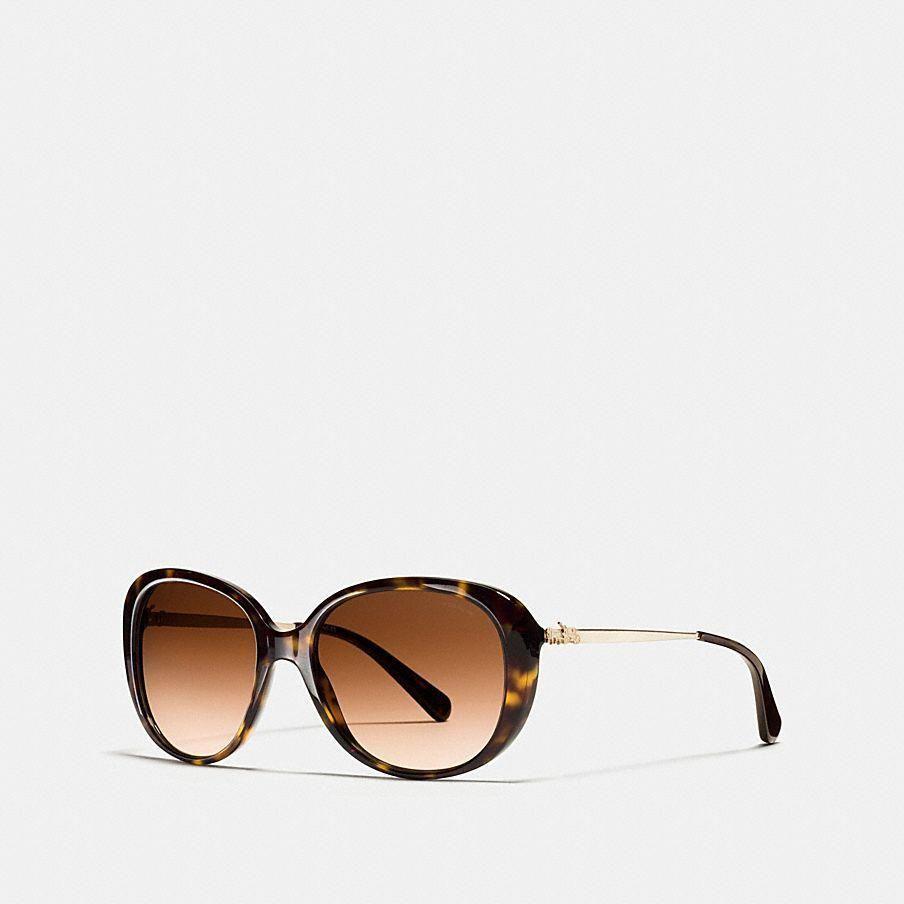 bcef4ebbf3 Coach Horse And Carriage Oval Sunglasses