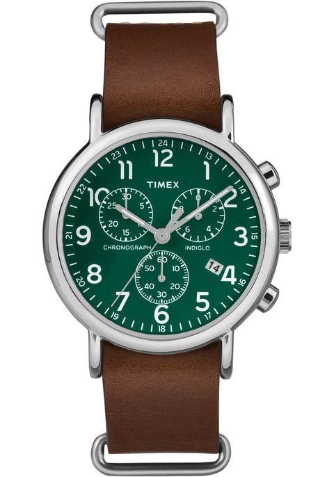 8ee96efd320a Timex Weekender Chrono Green Brown Reloj