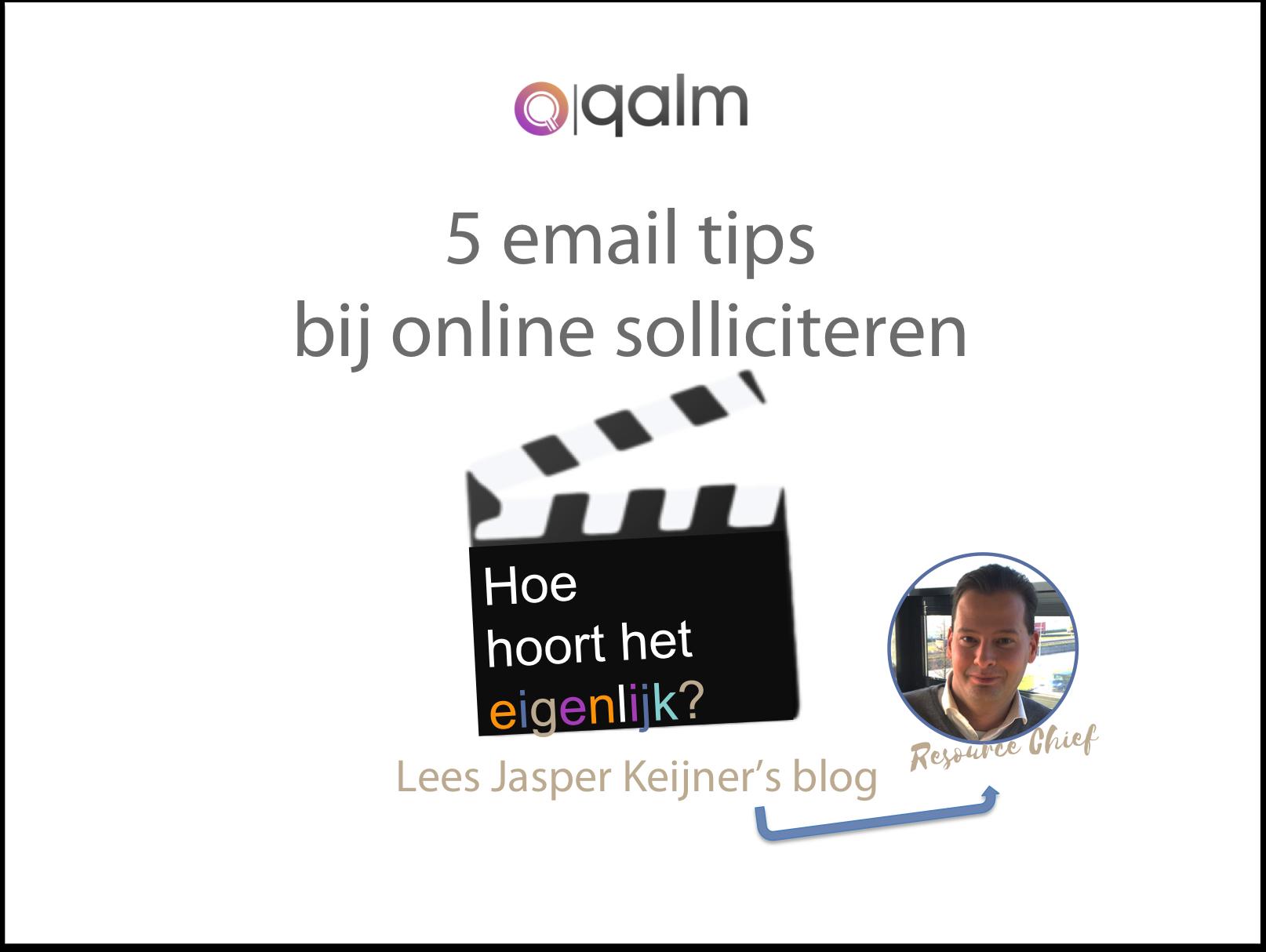 EMAIL SOLLICITATIETIPS Online solliciteren waarop moet