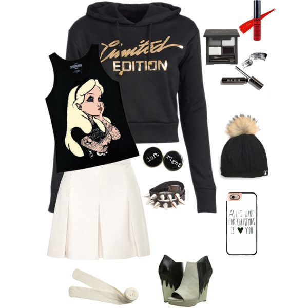 A fashion look from December 2015 by queenchelleisboomkoo featuring Disney, Proenza Schouler, Monki, Casetify and NYX