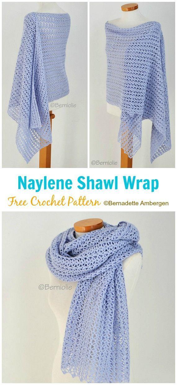 Naylene Shawl Crochet Free Pattern - Crochet & Knitting