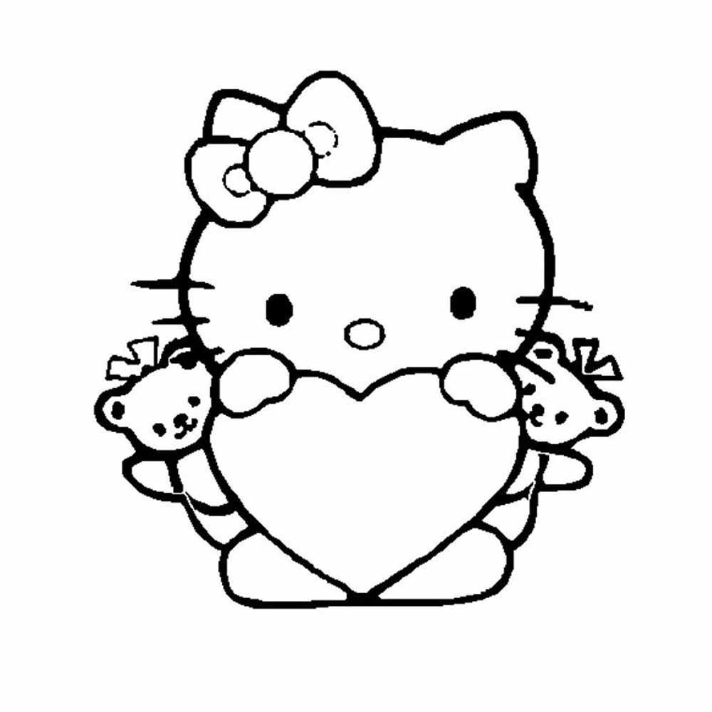 Asombroso Hola Gatito Para Colorear Páginas Que Puedes Imprimir ...