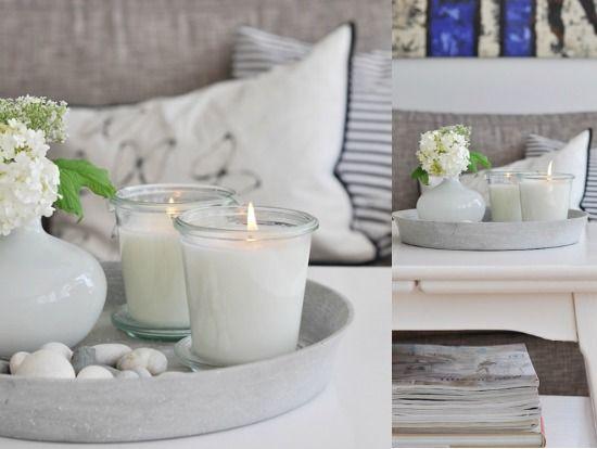 Een dienblad doet het goed ter decoratie op de salontafel maar hoe vul je een dienblad - Decoratie terrace ...