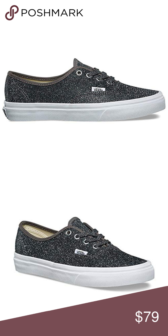 ee89853e9a4fc9 VANS Authentic Glitter Skate Shoes NIB! In Gray Classic Slip On Shoes with  Glitter