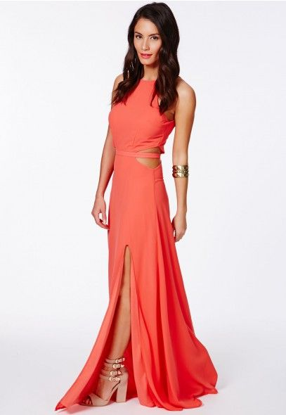 e1eda6dbac08 Anthea Cut Out Split Maxi Dress - Maxi Dresses - Dresses - Missguided