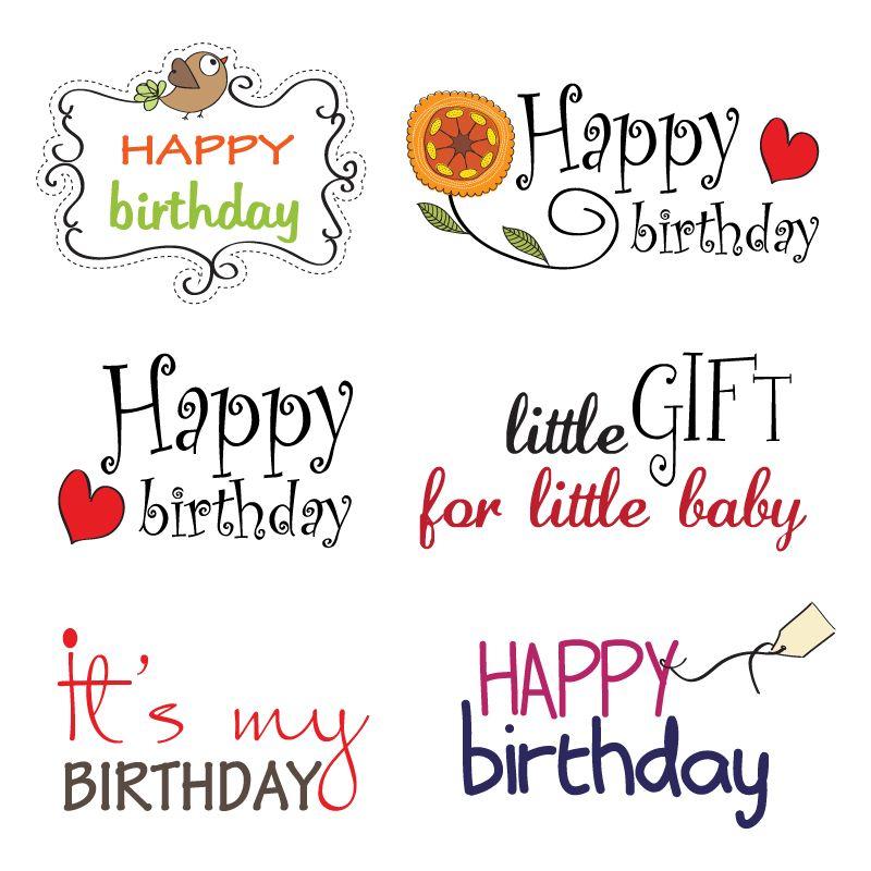 Happy Fonts Happy Birthday Creative Fonts Vector Free Vector