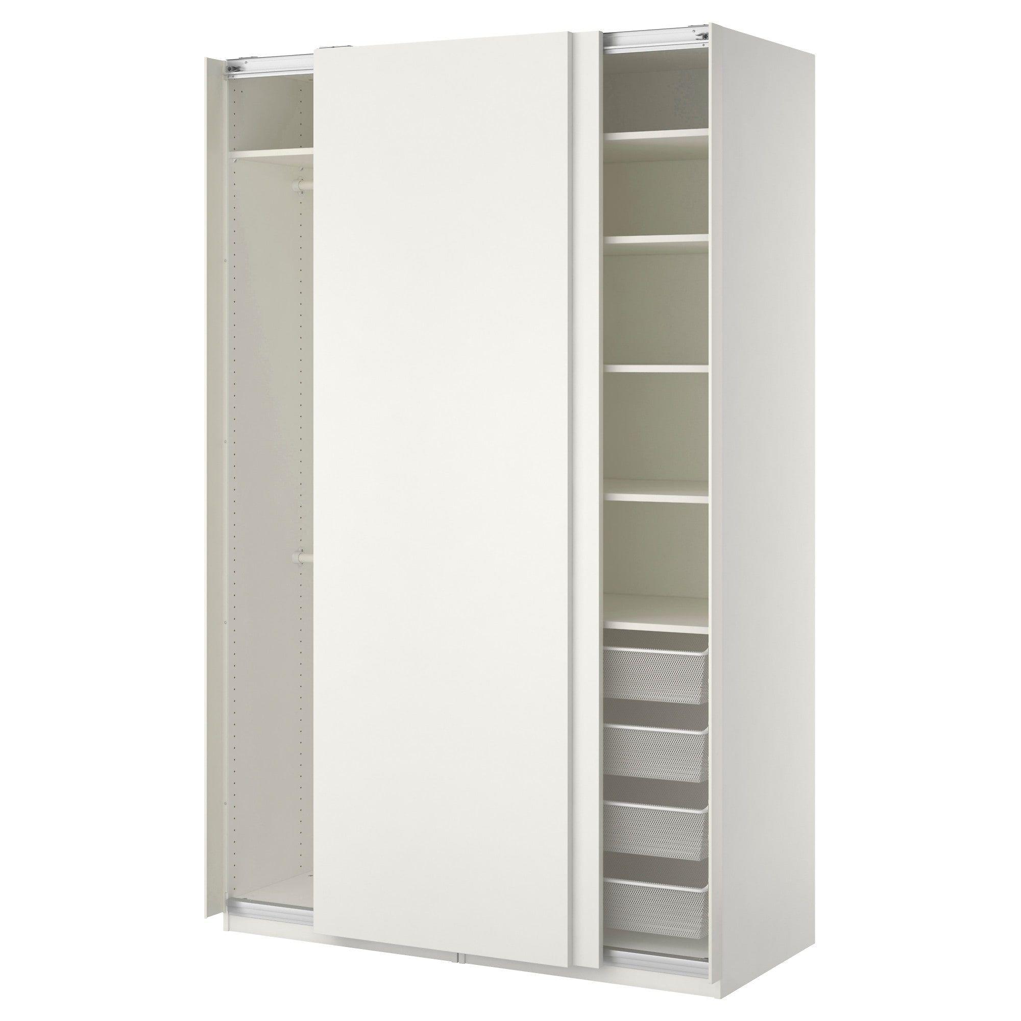 Scarpiera Guardaroba Pax Ikea.Pax Guardaroba Bianco Hasvik Bianco 150x66x236 Cm Ottieni