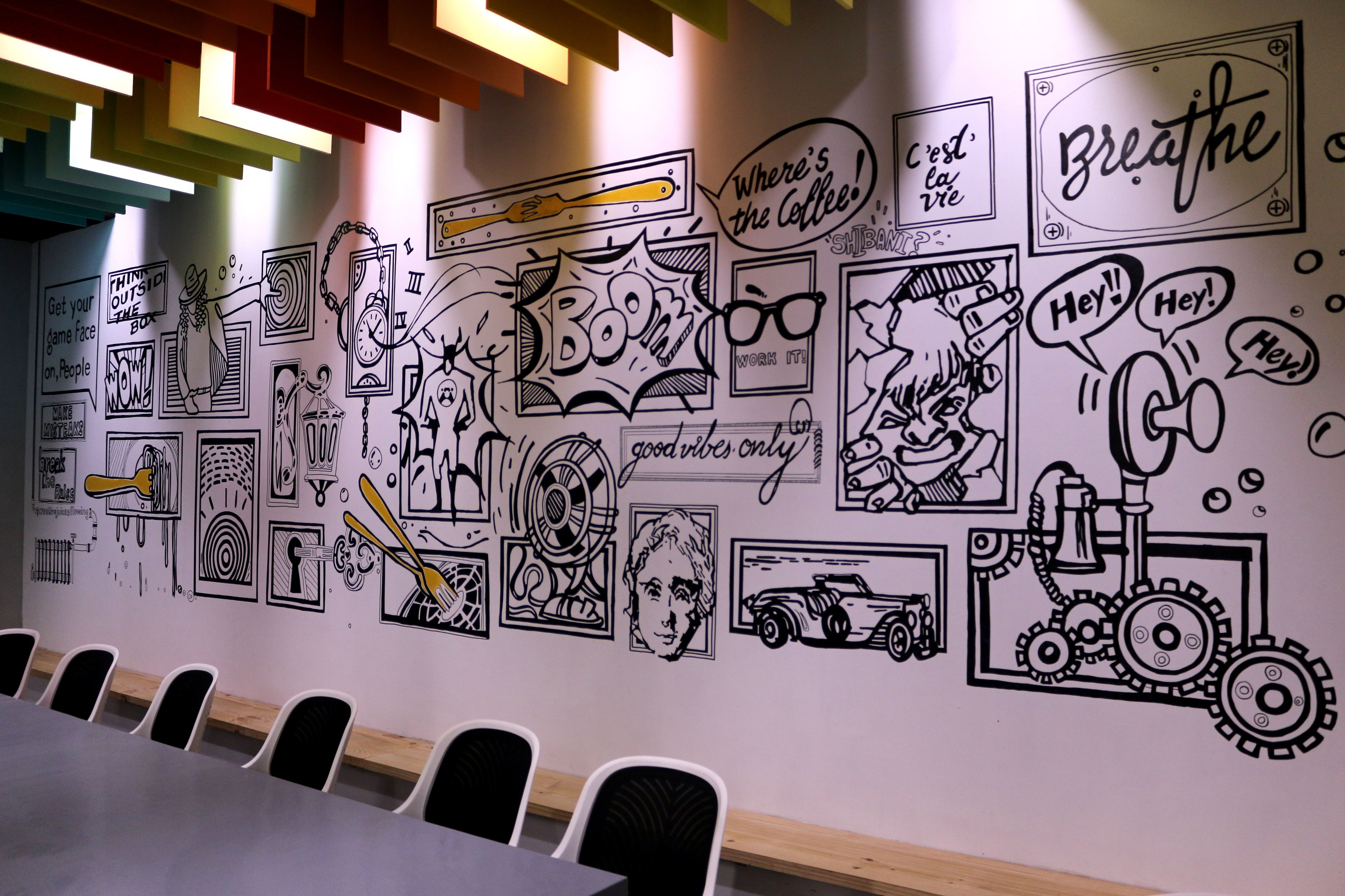 Showcase And Discover Creative Work On The World S Leading Online Platform For Creative Industries Wall Murals Office Wall Design Office Mural