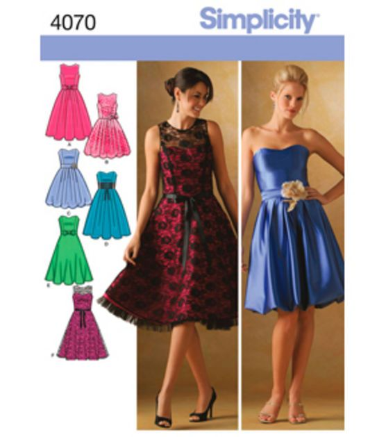 Simplicity Pattern 40P40 40 40 40 40 Simplicit Simplicity Cool Simplicity Patterns Dresses