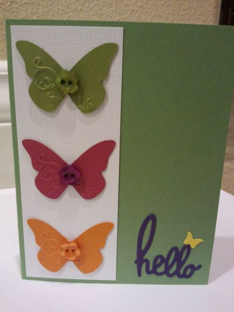 "Sweet and simple butterfly ""hello"" card"