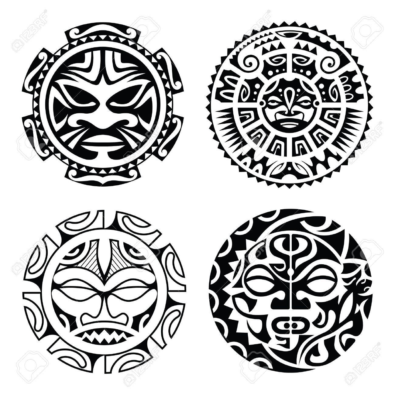 Stock Vector Polynesian Tattoo Designs Marquesan Tattoos Tiki Tattoo