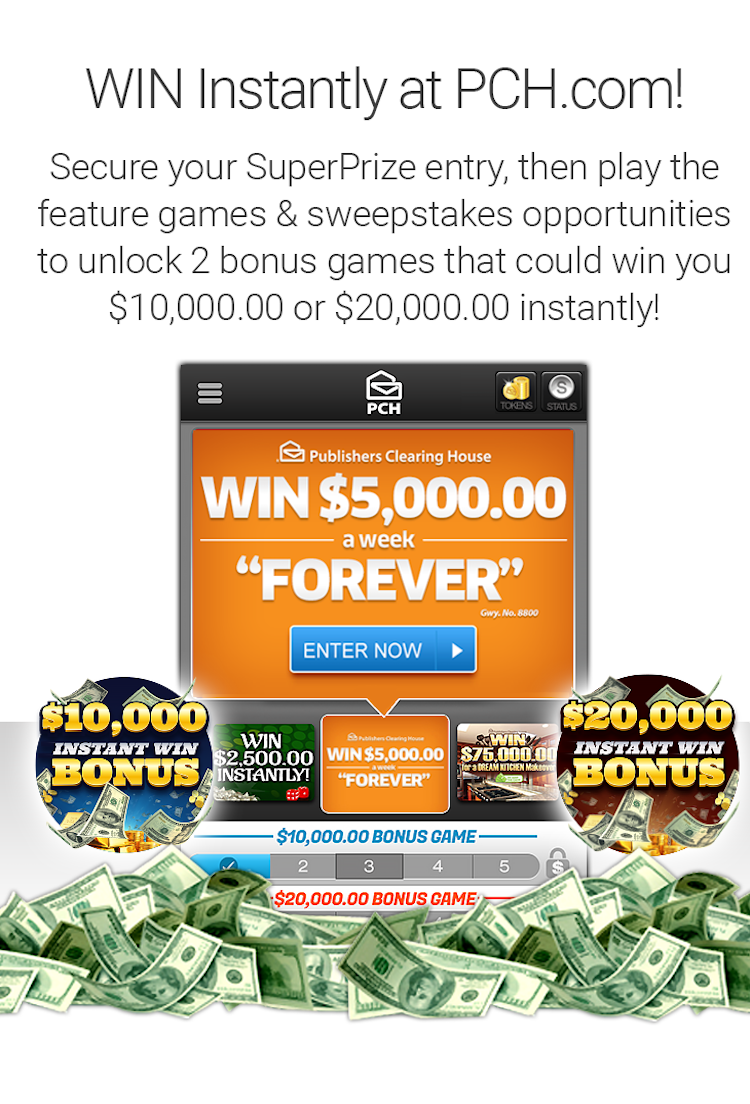 WIN $5,000 Every Week FOR LIFE from PCH! | Publisher clearing house