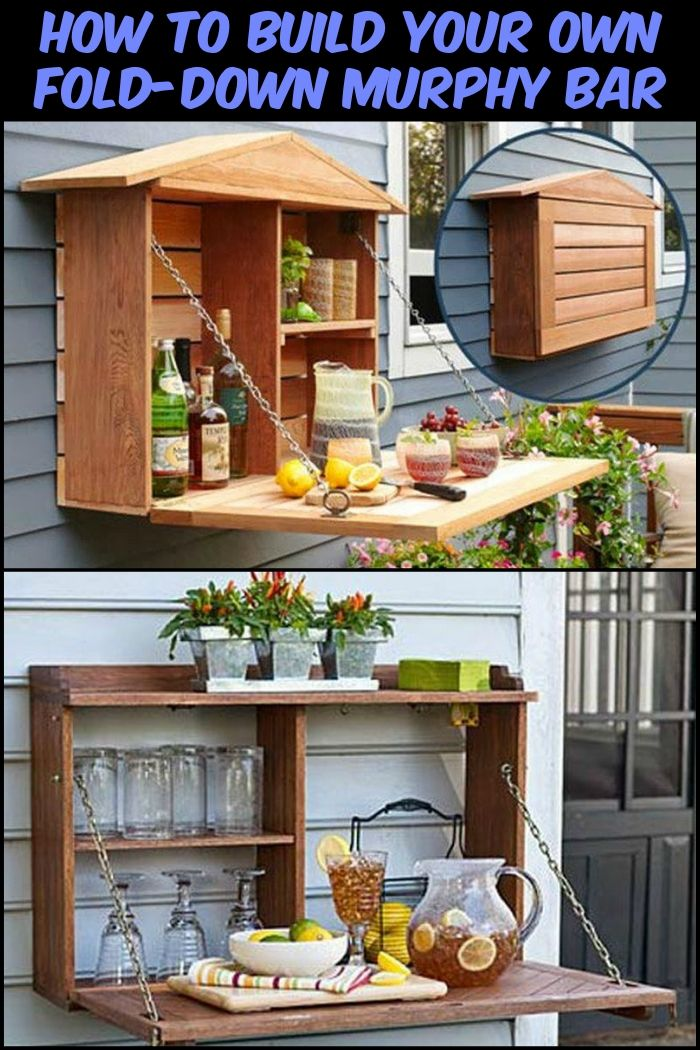 How To Build Your Own Fold Down Murphy Bar Outdoor Kitchen Backyard Home