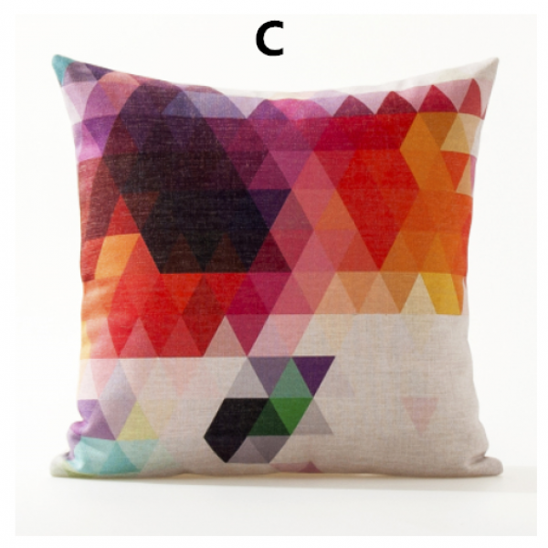 Geometric throw pillow colorful couch cushions for home decoration