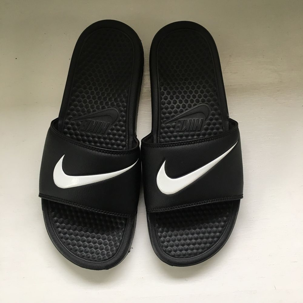 d36142ee934e Nike Men s Benassi Swoosh Sandal Black White 312618-011 Open Toe Size 9   fashion  clothing  shoes  accessories  mensshoes  sandals (ebay link)