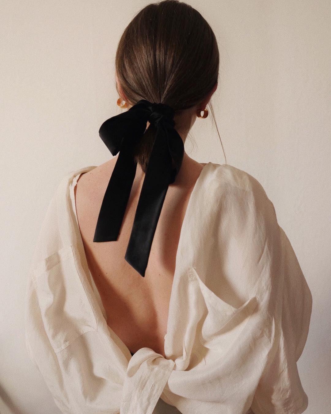 76cd115c81225a Silky Wednedsay 🕊  moyestore hair scarf    vintage silk shirt ...