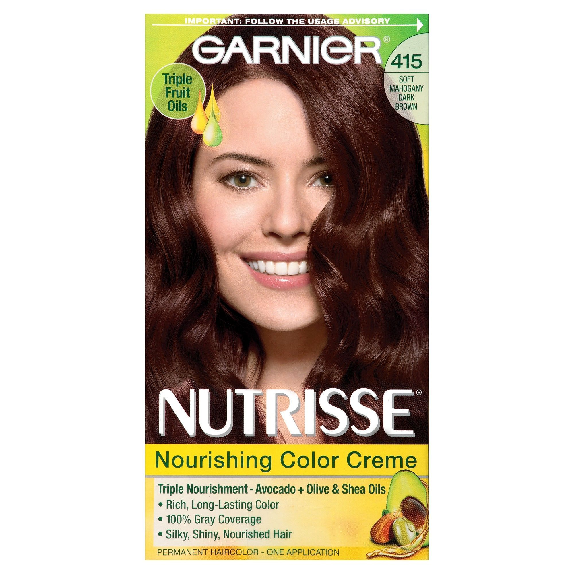 Garnier Nutrisse Nourishing Color Creme 415 Soft Mahogany Dark