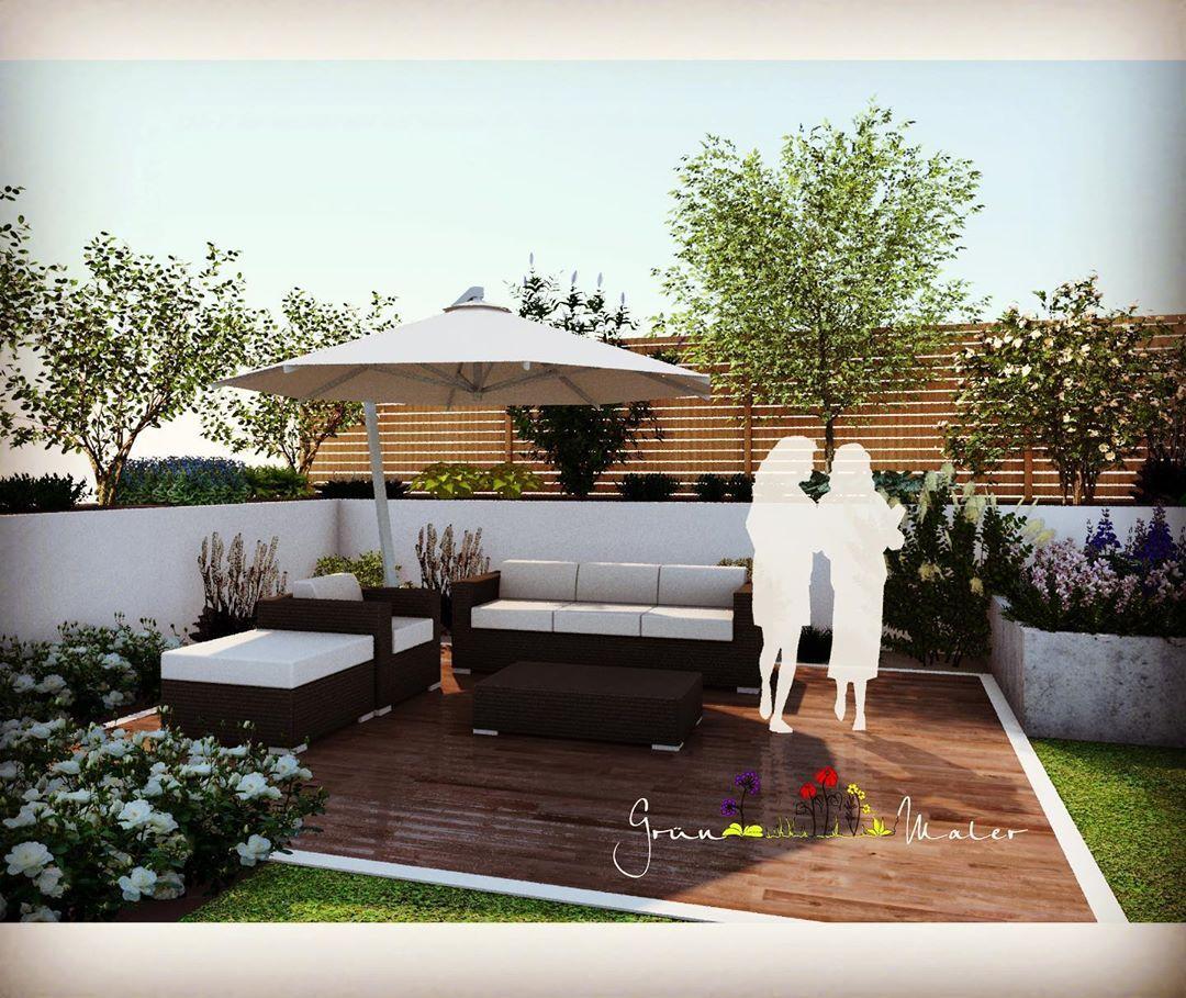 3d Ansicht Einer Terrassengestaltung Gruenmaler Garten Gartengestaltung Gartenideen Gartenplanung Gart Garten Design Terrassengestaltung Gartengestaltung