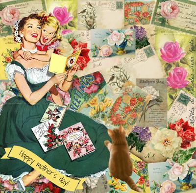 MALETA DE RECORTES: Mis Tarjetas Retro para el Día de la Madre ...