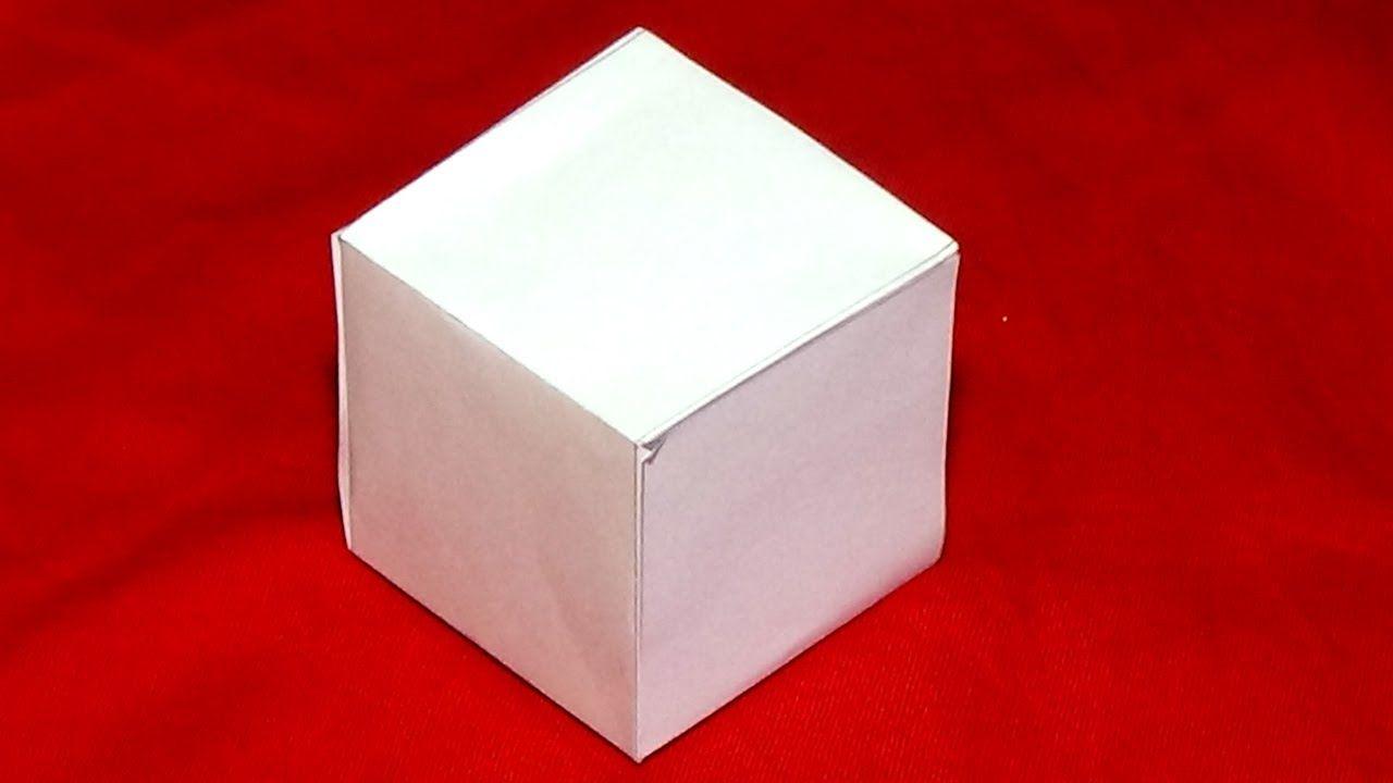 Como Hacer Un Cubo De Papel Paso A Paso Como Hacer Un Cubo Como Hacer Una Caja Origami Paso A Paso