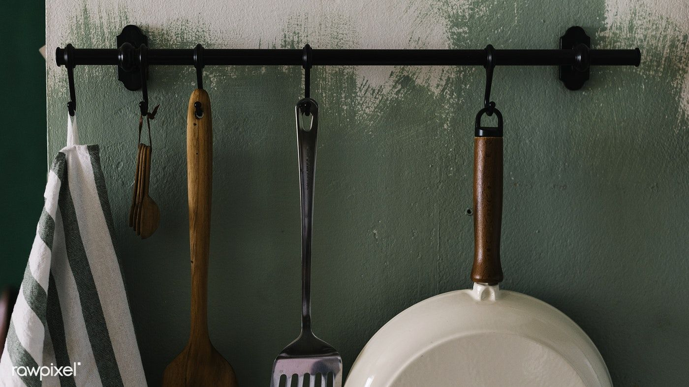 Kitchen Tools Hanged On The Wall Free Image By Rawpixel Com