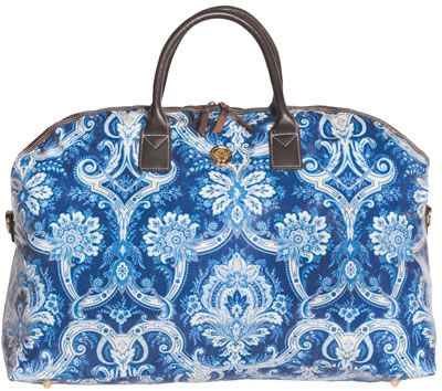 41dcf84636ea Anna Griffin willow blue damask duffle bag