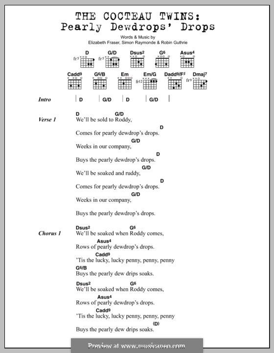 Pearly Dewdrops Drops The Cocteau Twins Lyrics And Chords By