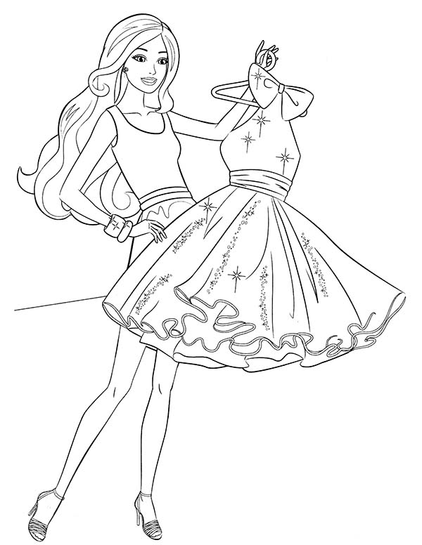 Barbie Buying New Dress Coloring Pages Bulk Color Barbie Coloring Pages Barbie Coloring Coloring Pages