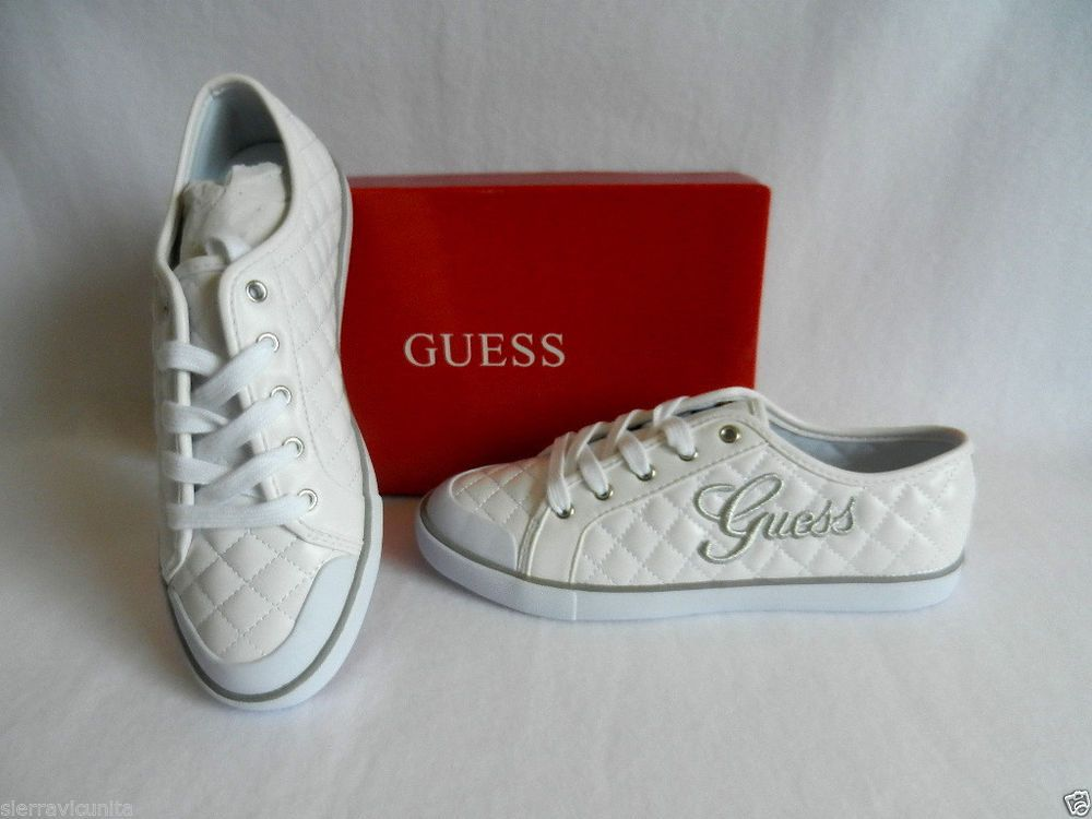 NEW-GUESS BRAXTYN MULTI-PINK+WHITE CHECKERED STITCH TRIM SHOES SIZE 6.5-8.5+BOX