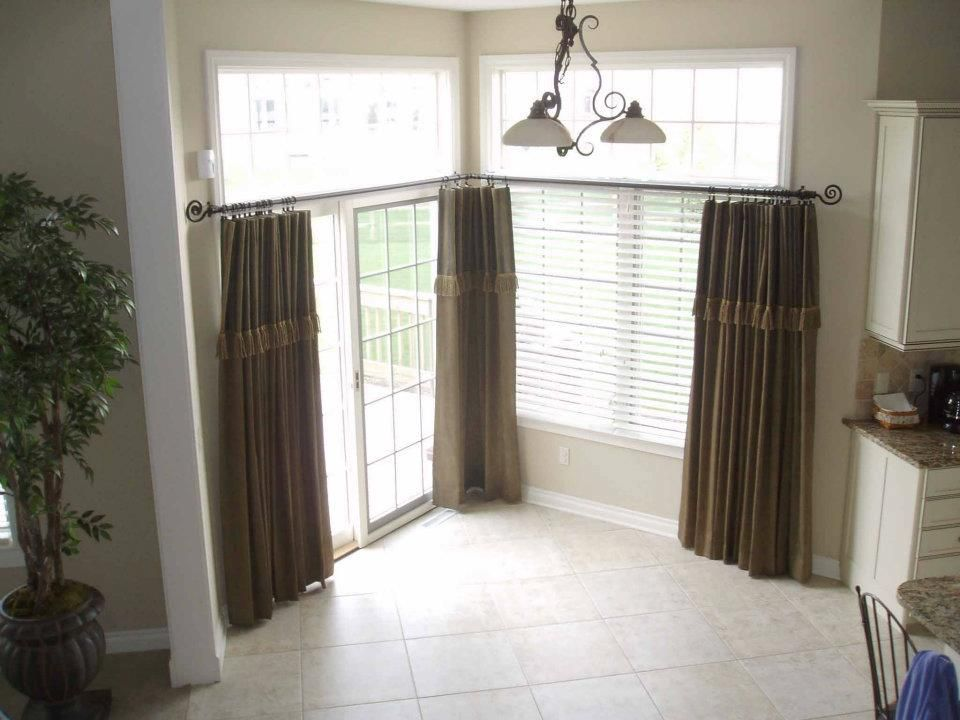 Window Treatments For A Patio Door In A Kitchen Window