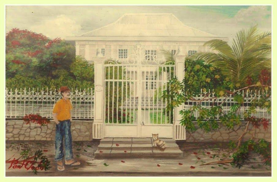 La représentation de la case créole en peinture par Paul Clodel