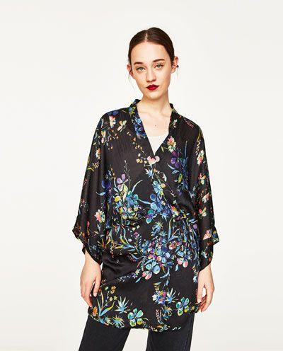 37b8200f BLOMSTRET KIMONO-Kimono-FRAKKER-DAME | ZARA Danmark | Diy clothing ...