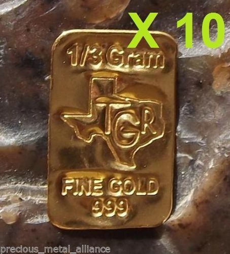 Details About 10 X Gold 1 3 Grams 24k Pure Bullion Bar 9999 Fine Ingot Lot Save Save Pure Products Branded Mints Gold