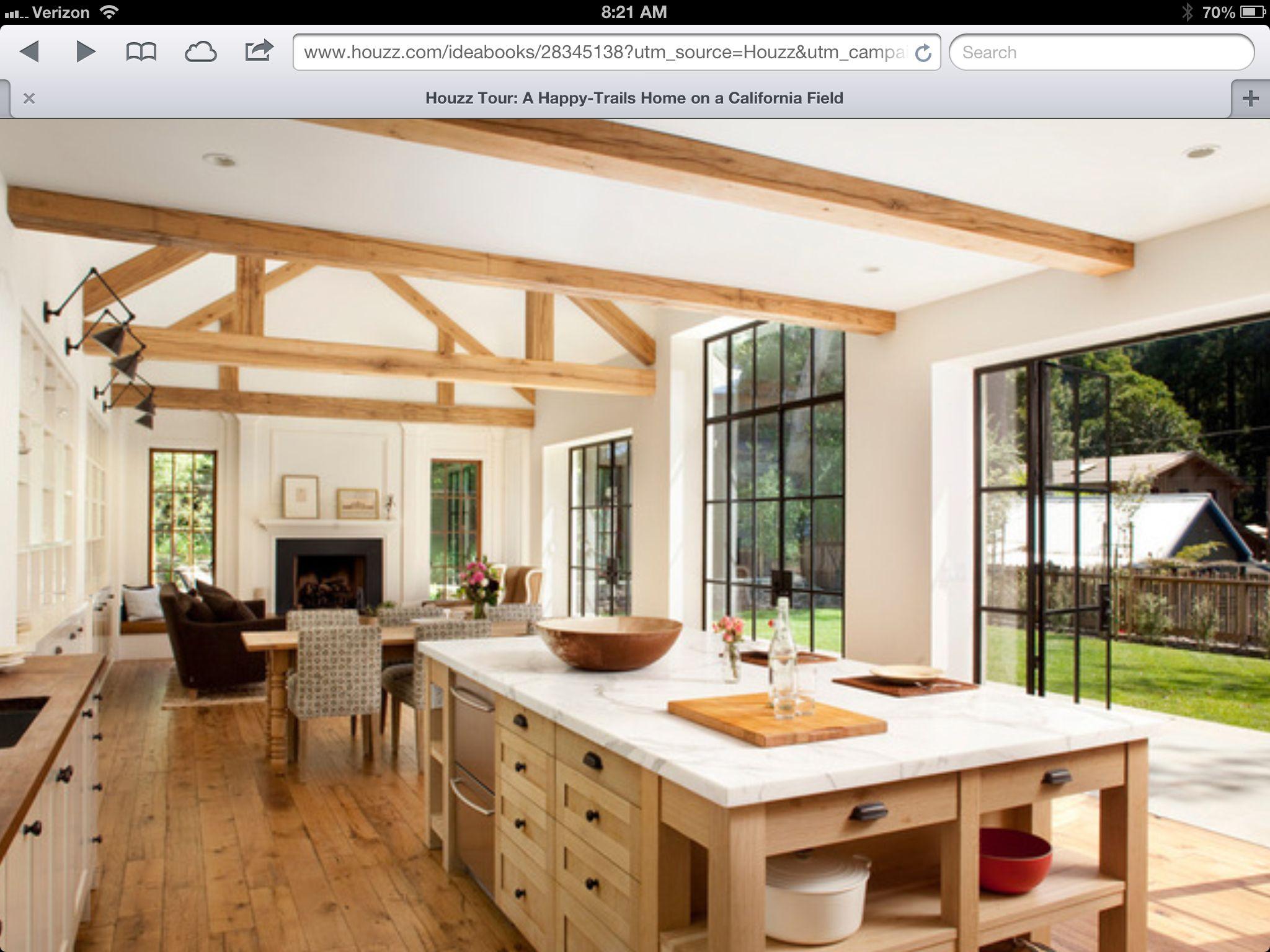 Farmhousel shaped kitchenlivingroom pinterest shapes