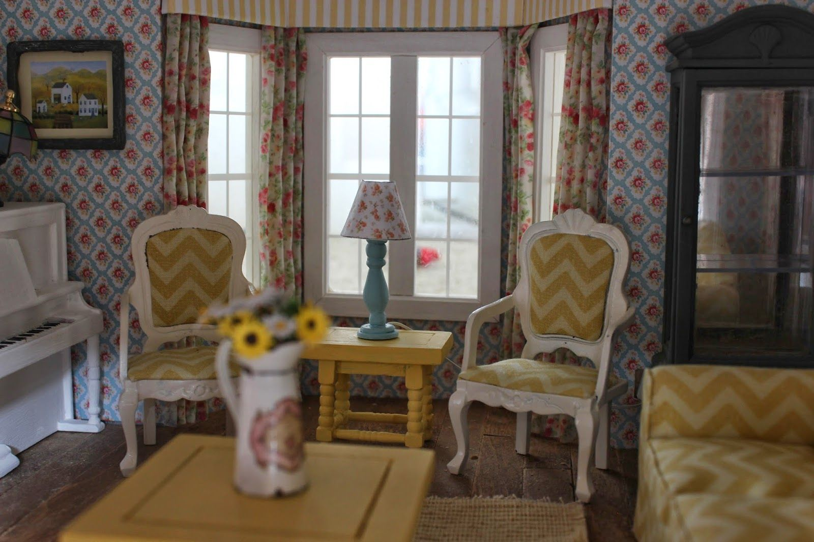 Southwest decor living room  Miniature living room  Dollshouses u miniatures misc  Pinterest