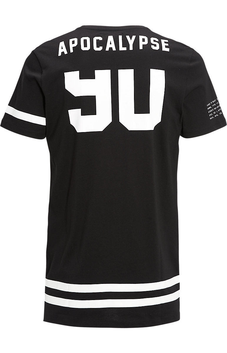 Design your own t shirt mumbai - Long Fit T Shirt Zwart The Sting