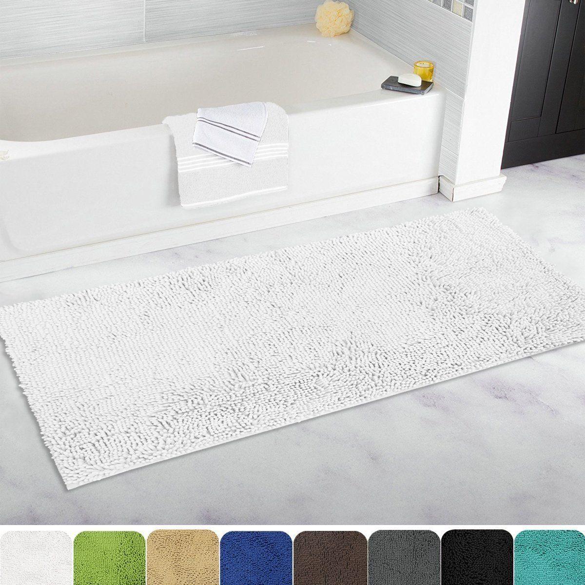 Amazon Com Mayshine Bath Mat Runners For Bathroom Rugs Long Floor Mats Extra Soft Absorbent Thickening Shaggy Microfi Bath Mat Runner Bathroom Rugs Bath Mat