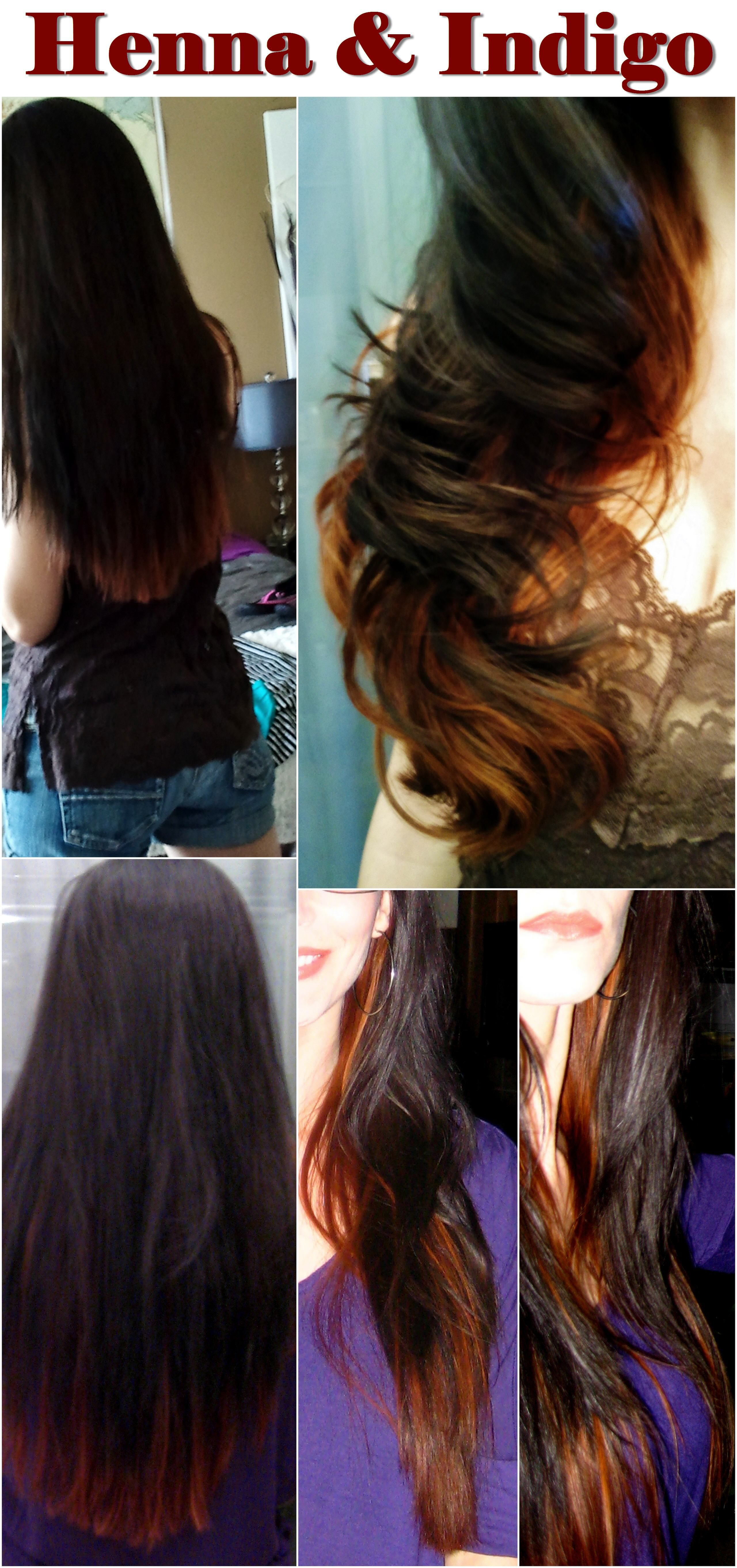 My Black And Copper Hair Pure Henna And Indigo Powder I St Dyed All Of My Hair With Henna Then I Used Indigo Powder On Just The Top Layers Of Hair