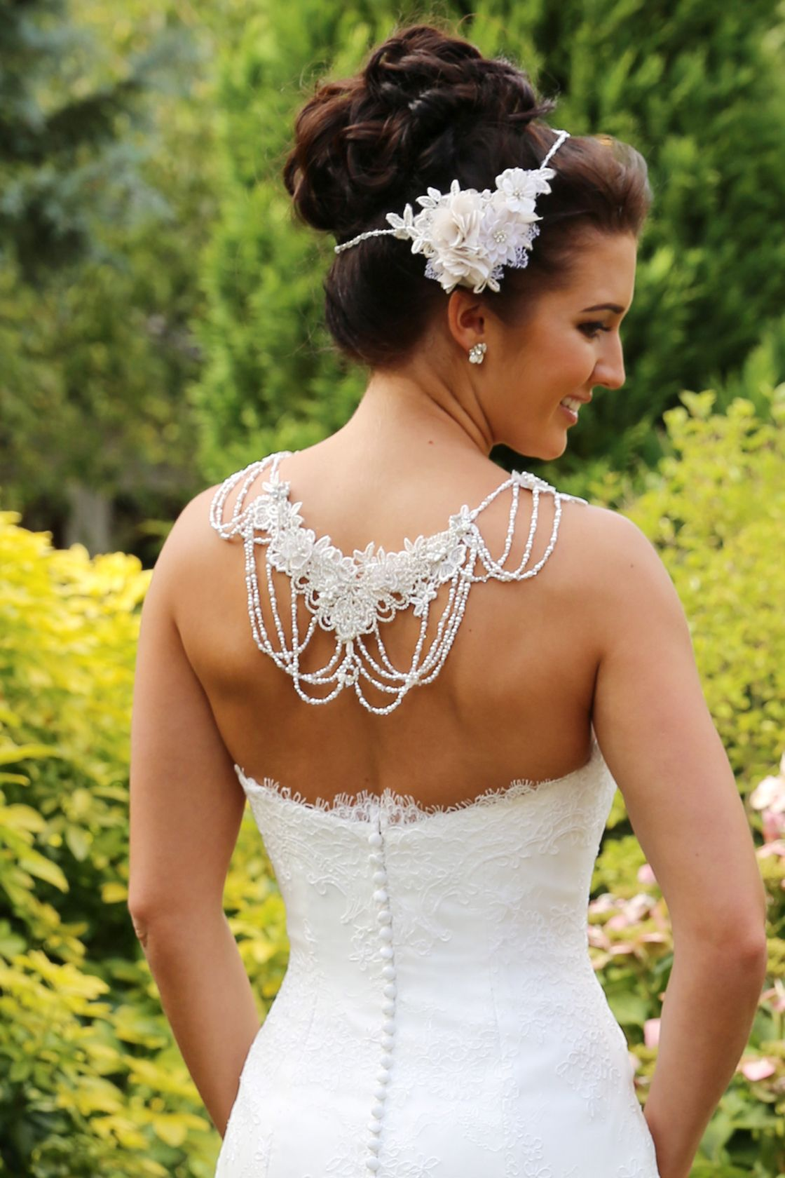 Stunning beaded capelet ps by richard designs wedding gown