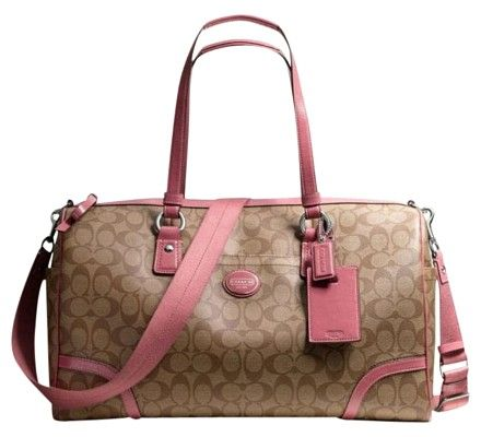 2af023e2f603 Coach Travel Signature Pink Travel Bag