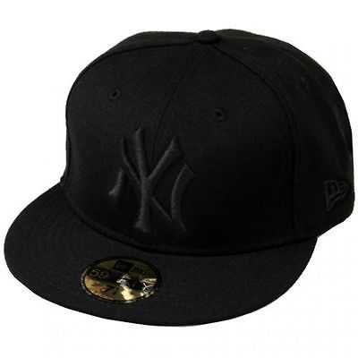 New Era New York Yankees Fitted Hat Mens Nea Nybk Black Baseball Cap Size 7 1 4 Black Baseball Cap Fitted Hats Hats For Men