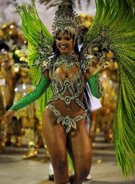 Green Carnival Samba Bikini