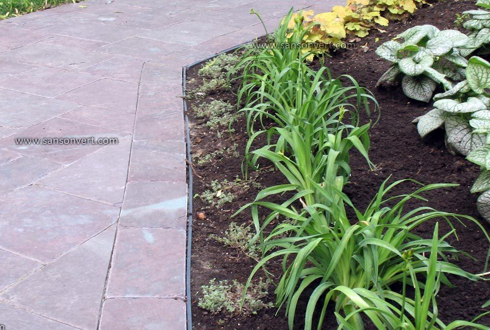 Plate bande en bordure d 39 une all e d 39 ardoise nos r alisations de jardins pinterest - Bordure d allee ...