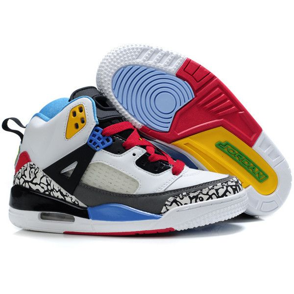 finest selection ae087 5ddd3 Air Jordan 3.5 Retro Kids Shoes White Red Black Grey J3.5K-004 ❤ liked on  Polyvore