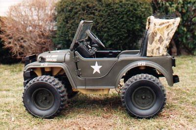 Power Wheels Army Jeep Looks Just Like The Real Army Jeep My Dad