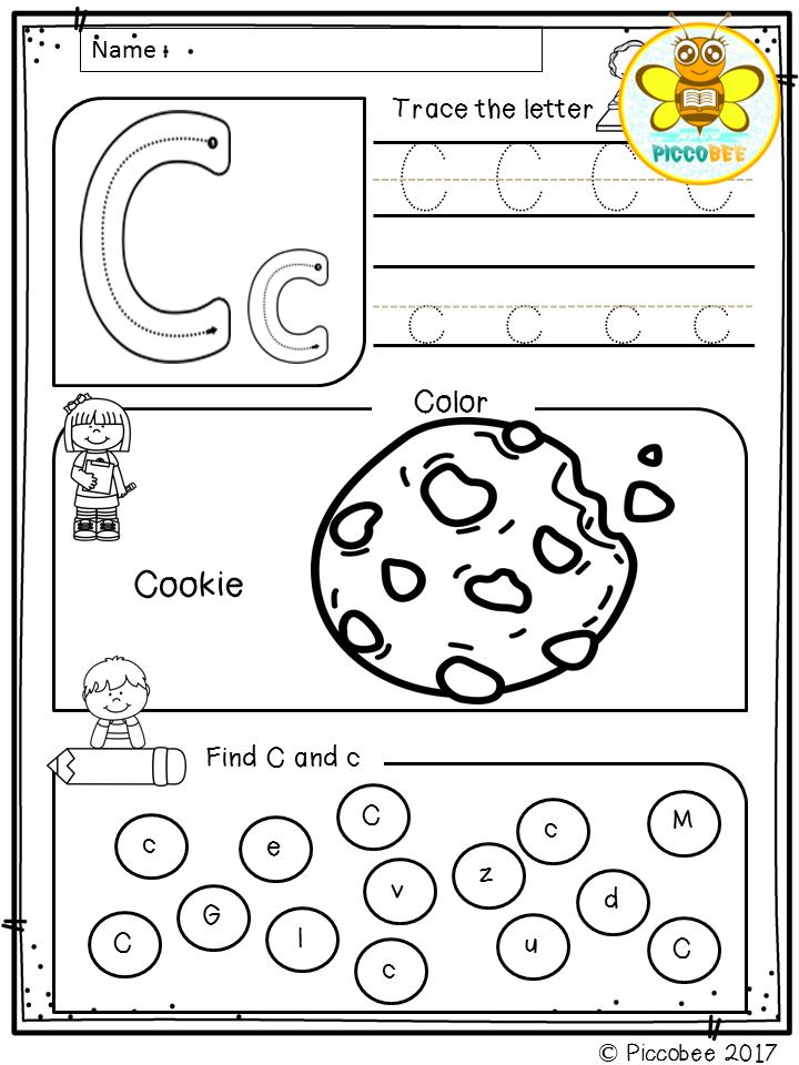 Free, Freebies, Pre-K, Kindergarten, First Grade, Pre-Primer, Primer, 1st  Grade, Alp… Letter C Worksheets, Alphabet Worksheets Kindergarten,  Alphabet Kindergarten