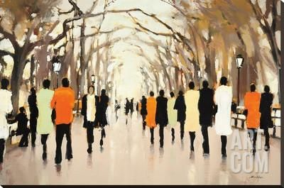Poet's Walk Stretched Canvas Print by Lorraine Christie at Art.co.uk