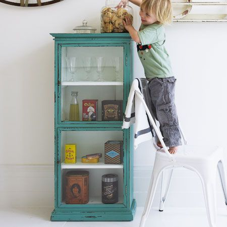 Re Use, Re Cycle, Re Create   Turquoise Cabinet