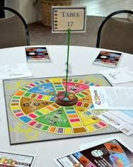 Image Result For Trivia Night Table Decorations Game Night Decorations Board Game Themes Game Night Table