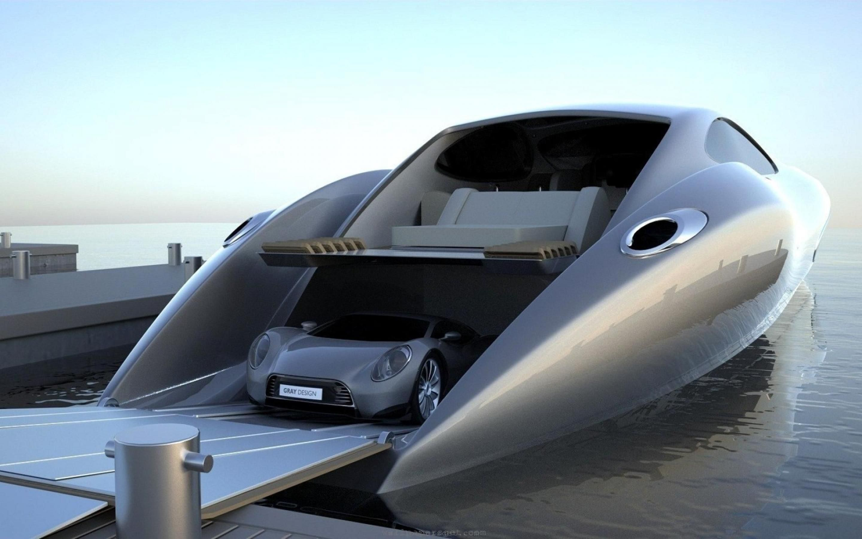 Strand Craft 122 Super Yacht Comes With Supercar And In Boat Garage To Hold It Boat